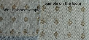 wet finished vs on-loom sample