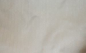 Handwoven dress fabric, after the third hard press