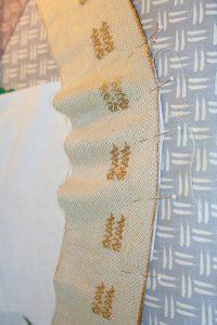 wool ribbon, ruffled, before shaping