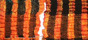 handwoven collapse weave shawl samples, plain weave