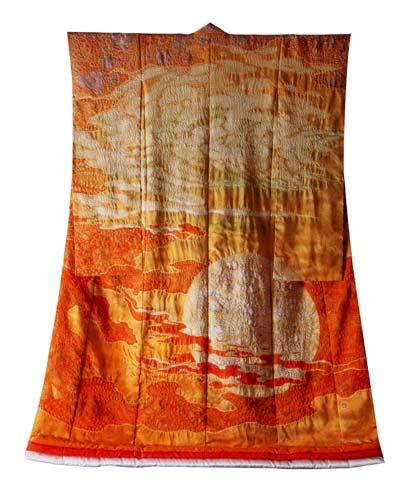 """""""Burning Sun"""" kimono by Itchiku Kubota"""