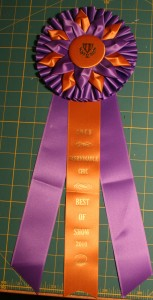 """Best in Show"" CNCH prize ribbon"
