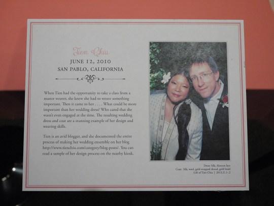 Plaque at the exhibit
