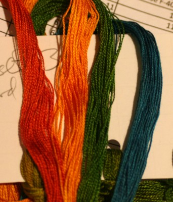 colors for doubleweave shawl