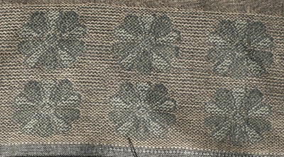 handwoven taquete, cashmere chrysanthemums