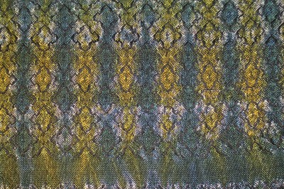 woven shibori sample - previously done - bottom side
