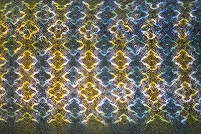 woven shibori sample - previously done - top side