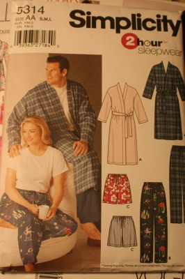 A clearly not-fancy-enough bathrobe pattern