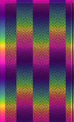 And now for something completely different.  Simulation 4 is the same painted warp, but with the pattern shifted slightly.  I like this a lot better than the other three.