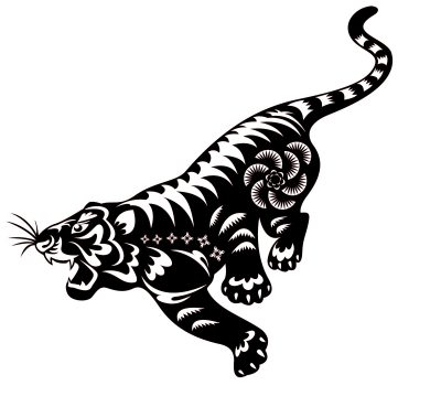 tiger paper-cut, from iStockPhoto