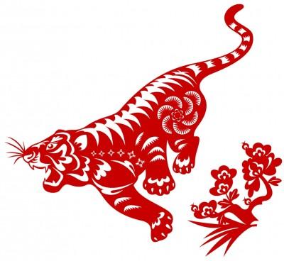 original Chinese paper-cut tiger