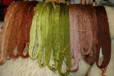 weft colors for devore samples