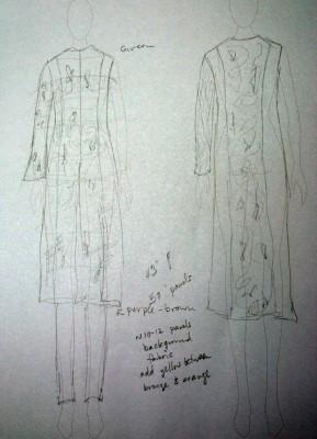 design sketch for autumn splendor