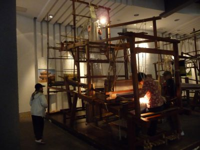 drawloom at silk museum in China