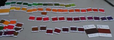 Lanaset color samples