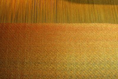 partially woven sample for Autumn Splendor
