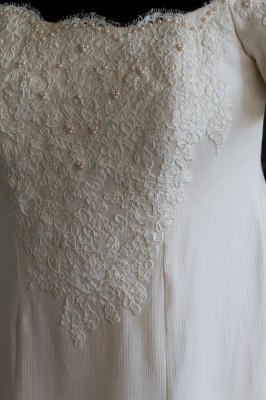 wedding dress - closeup of front