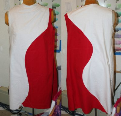 muslin 10 - partially complete (left is front, right is back)