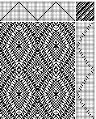 curvy diamonds, in a network drafted twill