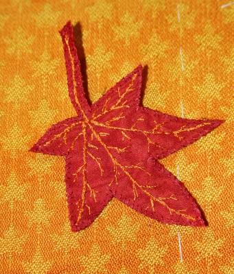 close-up of second leaf