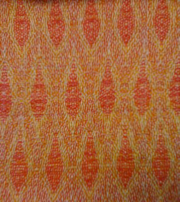 reverse side of silk fabric