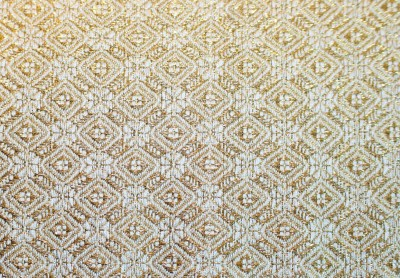 sample woven with gold thread