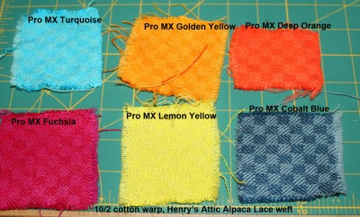 Procion MX dye samples