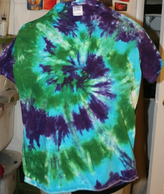 blue, green, and purple spiral