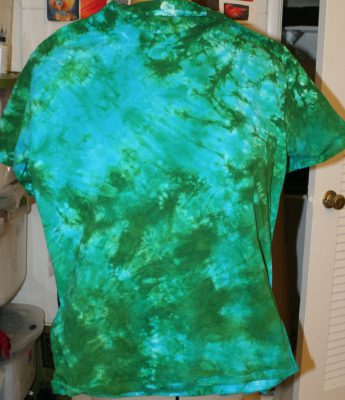 blue/green T-shirt