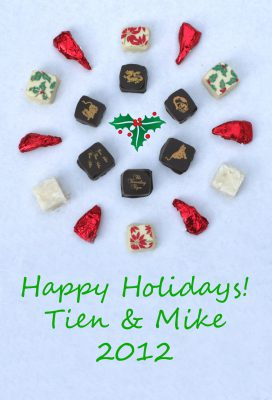 chocolate snowflake holiday card, for 2012