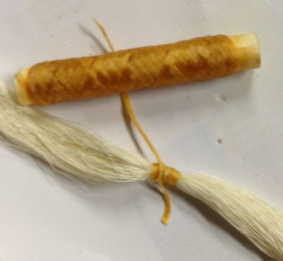 tied warp and artificial sinew