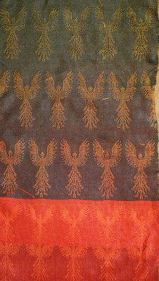 black weft double weave - colored phoenixes