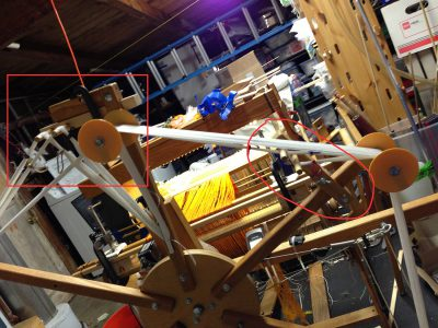 Winding a back-to-front warp on the AVL Warping Wheel
