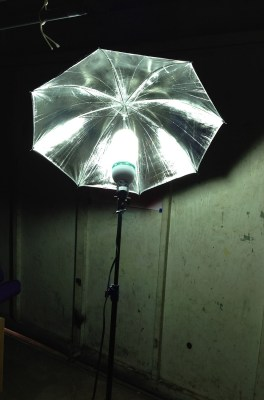 light stand, light on