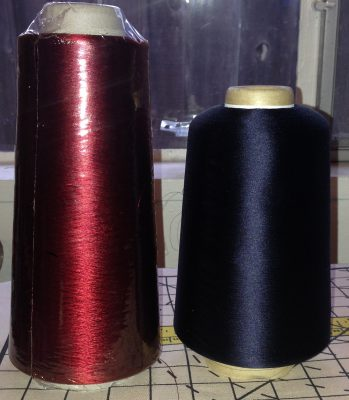 two cones of very fine silk