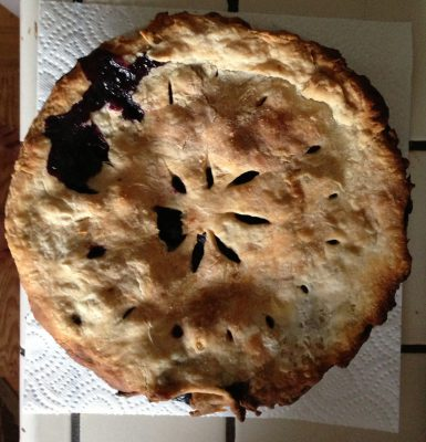 Blueberry pie!