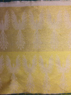 phoenix fabric - undyed - yellow weft