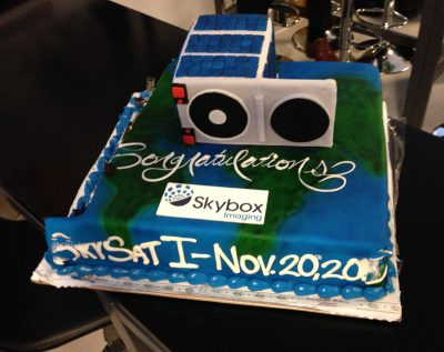 SkySat-1 cake