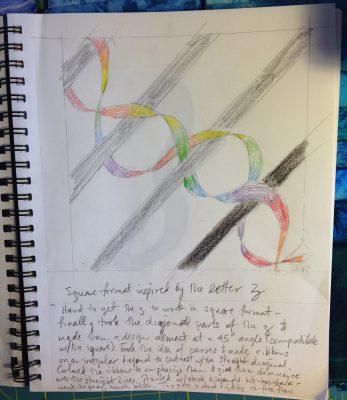 """design based on the letter """"z"""" - square format"""