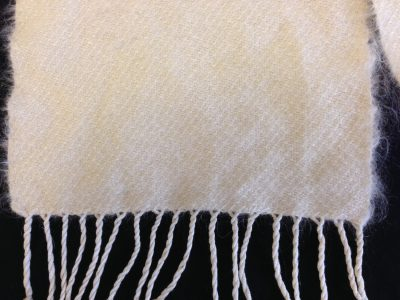 mohair scarf closeup