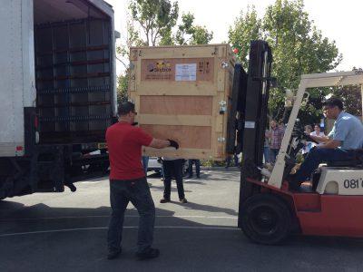SkySat-B being loaded