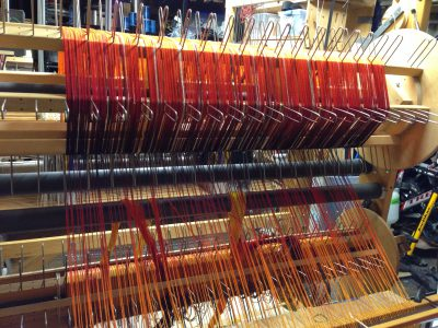 beamed warp for shadow weave cloth