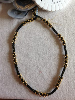 beaded kumhimo choker - perfect for that Little Black Dress!