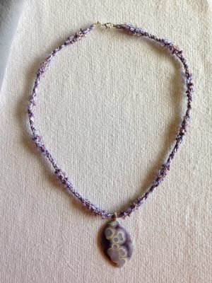 kumhimo beaded braid with matching stone