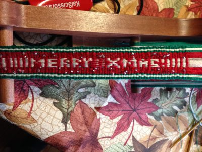 Inkle-woven holiday wishes