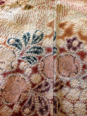 tsujigahana kimono closeup