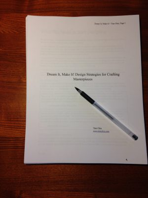 first printout of the whole manuscript!