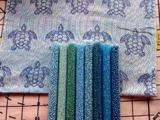 bead choices for sea turtle scarf fringe