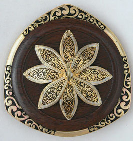 "Golding Ring spindle - ""Damascene Flower"""