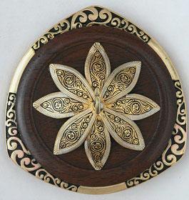 "Golding Ring spindle - ""Damascene Flower"""